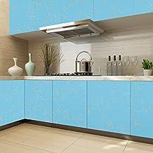 KINLO Papel Pegatina Autoadhesivo 0.61 x 5M PVC de Cocina/Mueble/Puerta/Armario/Pared Pintado Adhesivo para Muebles - Azul
