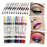 Best GENERIC Eyeliners - 12 Colors M.N. Waterproof Glitter Eyeliner Eyeshadow Lip Review