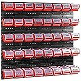 Box met deksel + wandplank, stapelboxen, opbergdoos, opslagsysteem, rood, 40 stuks, 40 stuks
