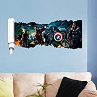 Demiawaking The Avengers Pattern PVC Removable Room DIY Wall Sticker Home Decor by Demiawaking