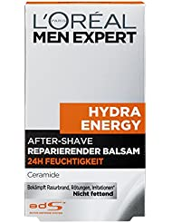 L'Oreal Men Expert Aftershave Balsam Hydra Energy, 100 ml; reparierende Lotion gegen Trockenheit