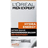 L'Oréal Men Expert Aftershave Balsam Hydra Energy reparierende After Shave Lotion pflegt nach der Rasur, 24h Anti-Austrocknung (dermatologich getestet, ohne Alkohol, schnell einziehend, fettet nicht) 1 x 100 ml