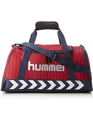 Hummel Sac de sport–Reflector Sportsbag AC–Sac de sport avec rouge & bleu–Fitness Sac de transport avec bandoulière–Étui pour le sport et les loisirs–Sportsbag avec poche intérieure