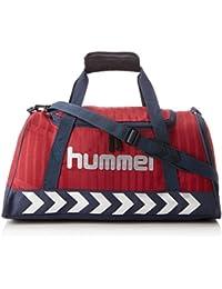 Hummel Sporttasche Blau oder Rot, Größe S oder M - REFLECTOR SPORTSBAG AC - Trainingstasche Damen & Herren - Fitnesstasche zum Umhängen mit Innenfach, unisex