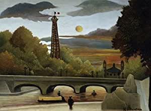 Henri Rousseau – The Eiffel Tower (La Tour Eiffel) Henri Rousseau (1844-1910/French) Poster (60,96 x 91,44 cm)