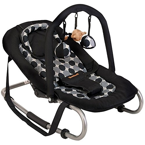 Baninni Babyschaukel Babywippe mit verstellbarer Rückenlehne, Spielebogen, Tragegurt