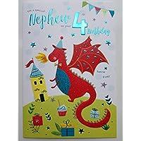 Special Nephew 4th Birthday Card Age Four 7804