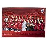 FC Bayern München Poster, Team Plakat, Mannschaftsposter 2018/19 FCB - Plus Lesezeichen I Love München
