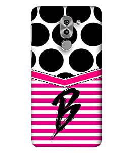 PrintVisa Designer Back Case Cover for Huawei Honor 6X (Big Black Polka Dots Name Starting A)