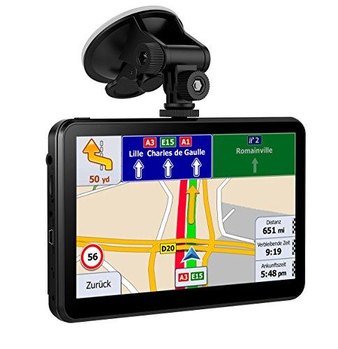 Navigation für Auto 7 Zoll 8 GB LKW Navigationsgeräte mit Kapazitivem Touchscreen Vorinstallierte Europa 58 Späteste Karten für Europa mit Lebenslangen Kostenlosen Kartenupdates