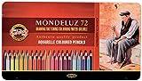 KOH-I-NOOR Mondeluz Crayons de Couleur Aquarelle (Set de 72)
