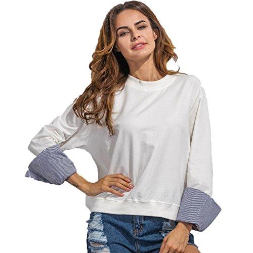 Maniche a pipistrello Felpa, FEITONG Donne girocollo casual a maniche lunghe (XL, (Frontale Jeans Aderenti)
