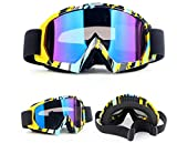 HXLONG Snowboardbrille,Motorrad Goggle Motocross Dirtbike Crossbrille Sportbrille Wind Staubschutz Fliegerbrille Snowboardbrille Schneebrille Skibrillen Wintersport Brille Off-Road Schutzbrille Radspo