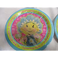 """FIFI & THE FLOWERTOTS"" PARTY PLATES (8 per pack) - 23cm /9inch approx"
