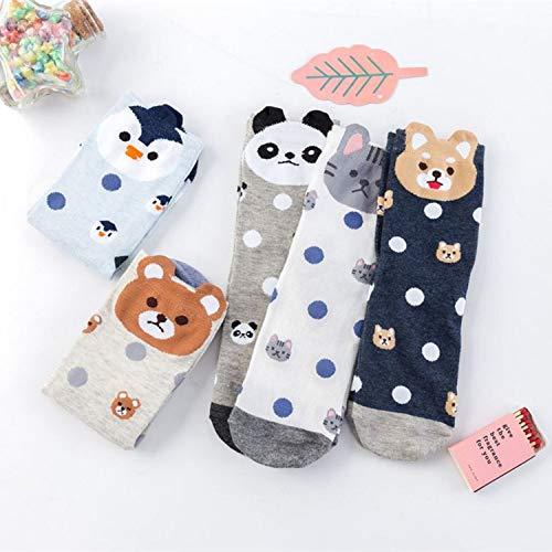 SUNHAO LUSTIGE Socken Socken Frauen mittleren Zylinder Herbst/Winter Baumwolle Socken Ohr Stereo-Cartoon Socken aus Baumwolle Dame Socken