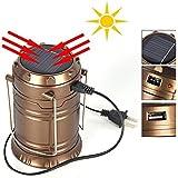 Dealcrox New 6 LED Camping Flashlight Solar LED Emergency Flashlight with USB Charging Port