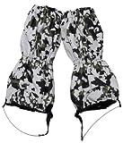 MFH Nässeschutzgamaschen Mit Reißverschluss Stahldraht, snow camo