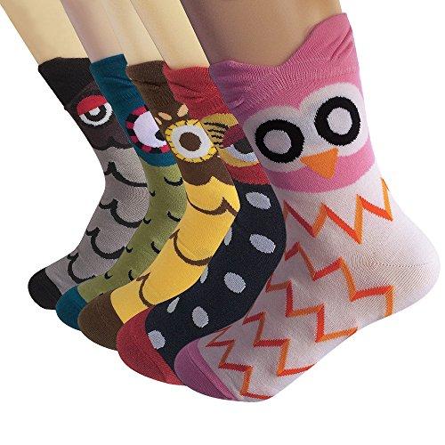Cute Cartoon calzini, Moliker calzini termici vari disegni / Colori adulti unisex Calzini (Gufo)