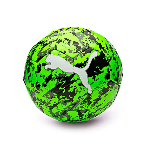 PUMA One Laser Ball Fußball Green Gecko Black-Charcoal Gray, 5