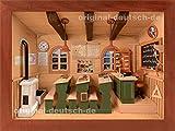 3D Holzbild Klassenzimmer, lasiert - Geschenk für Lehrer / Lehrerin / Dozent / Professor / Schuldirektor / Schulleiter