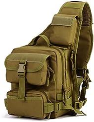 DCCN Tactical Sling Bag Rucksack Sling Crossbag Rucksack mit einem Gurt taktische Umhängetasche für Radfahren Wandern Camping
