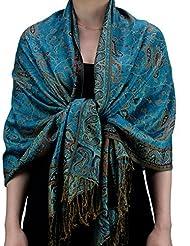 Fabuleux foulard-châle doux à imprimé Jacquard Paisley Produit offert par NYFASHION101.