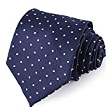 Vbiger Corbatas de Hombre 4 in 1 con 100% Poliéster (Azul 2)
