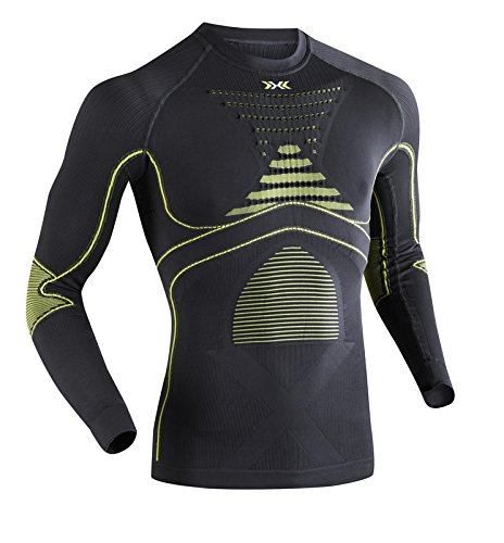 x-bionic-maillot-a-manches-longues-energy-accumulator-evo-pour-homme-gris-charcoal-yellow-xxl
