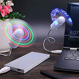 USB Led Fan with Programmable cd for customised Message.