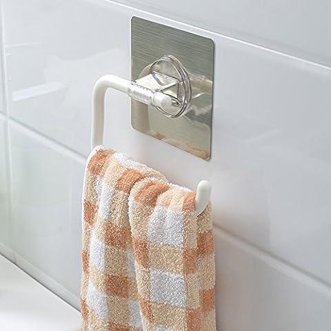 Kurelle no Screws no Drill, Nails free Contemporary Bathroom Towel