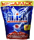 Finish All in 1 Megapack, Spülmaschinentabs, 80 Tabs, 1280 g