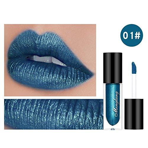 Moresave 8 Farben Diamant Perle Glitter Flüssiger Lippenstift Dauerhaft Wasserdicht Lipgloss Rot...