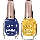 Lakme Insta Eye Liner- Blue, 9 ml and Golden, 9 ml