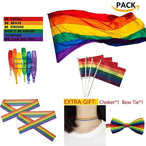 Polyester Aufhängen Regenbogen Gay Lesben Flagge LGBT Stolz Parade Peace Große LGBT-Flaggen-Polyester-Durabol homosexuelle Regenbogen-Stolz LGBT zylinderförmige Lesbe für den Tag der Stolz-LGBT-Flaggen-Ausrüstungs-Regenbogen-Symbol-Schwulen, Lesben, Love wins Parade 59 * 35inch Flagge