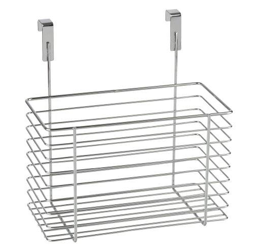 WENKO 2346100 Einhängekorb Groß, verchromtes Metall, 24 x 24.5 x 15 cm, Chrom (Küchenschrank-organizer-korb)
