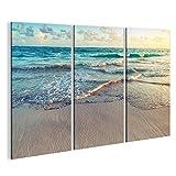 islandburner Bild Bilder auf Leinwand Strand Meer Sand Poster, Leinwandbild, Wandbilder