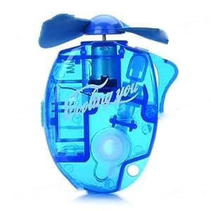 bestofferbuy mini ventilator wasser spr hend k hl batterie betrieben blau elektronik. Black Bedroom Furniture Sets. Home Design Ideas