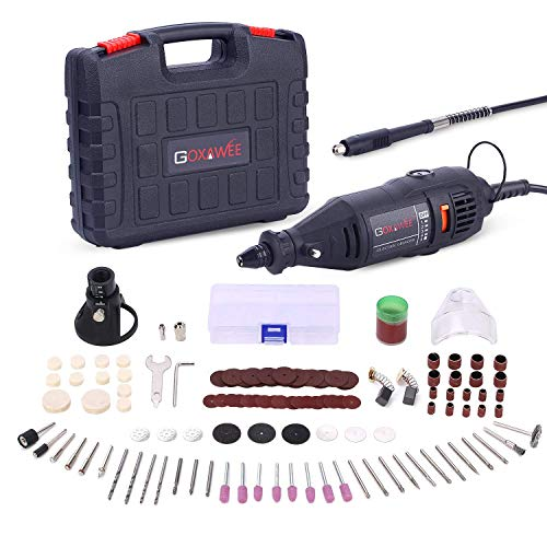 Multifunktionswerkzeug, GOXAWEE Drehwerkzeug mit 140 Zubehör, Multipro Schnellspannbohrfutter und Biegsame Welle für Handwerker und Heimwerker