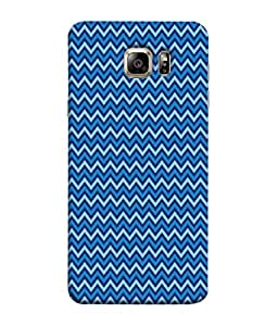 PrintVisa Designer Back Case Cover for Samsung Galaxy S6 G920I :: Samsung Galaxy S6 G9200 G9208 G9208/Ss G9209 G920A G920F G920Fd G920S G920T (Wavy Design In Blue)
