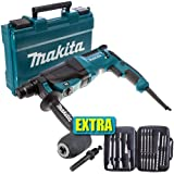 Makita HR2630 SDS  3 Mode Rotary Hammer Drill 240V   Extra Accessories