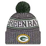 New Era Green Bay Packers Beanie NFL 2018 Sideline Sport Graphite Knit Green/Grey - One-Size