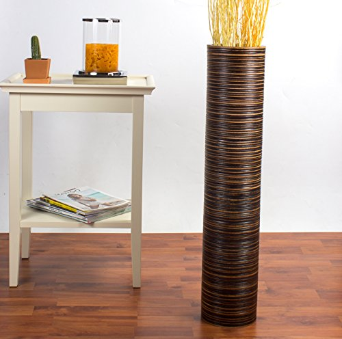 Deko-Bodenvase - Holz - 75cm hoch (braun)