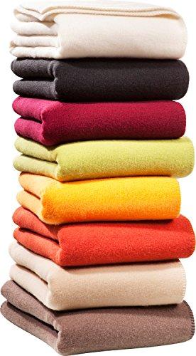 STEINBECK Wohndecke Wolle rost Größe 100x150 cm
