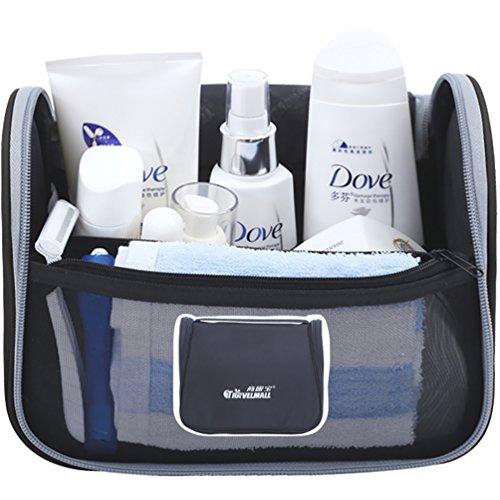 NiSeng Salle de bains rangement à Suspendre Trousse de maquillage Trousse de Voyage OrganisateurNoir