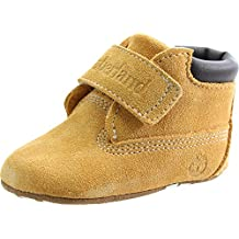 Timberland Hook & Loop Crib Bootie Wheat Nubuck Baby Soft Soles