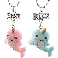 Lovelegis Due Collane da Bambina - Amicizia - Best Friends - Migliori Amiche per 2 - Kawaii X 2 - BFF - Coppia - Delfini…