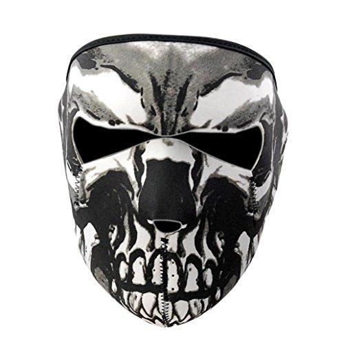 Vovotrade® Al Aire Libre Esquí Snowboard Motocicleta Deporte Cráneo Invierno Más cálido Terror Fantasma Cráneo Cara Máscara