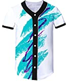 Loveternal Jazz Solo Cup Equipo Baseball Jersey Softball Batting Player Practice Frente 3D Impreso Hipster Sport Shirt para Hombres Mujeres XL