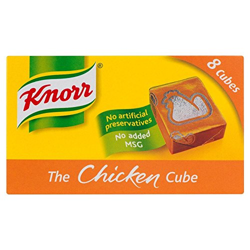 Knorr - Bouillon de poule - 8 cubes - lot de 8 boîtes de 80 g