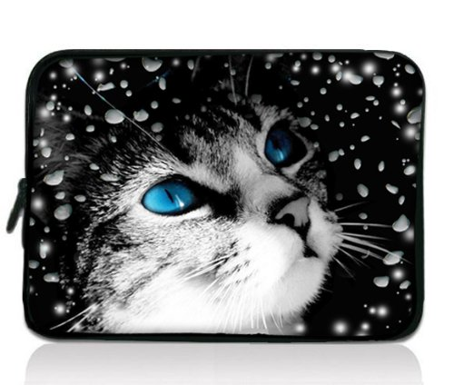 "Katze 13-Zoll-13.3"" Universal Laptop staubdicht Notebook Wasserdichte Hülle Tasche Fall Abdeckung für 13"" 13.1"" Zoll Samsung Serie 5 Ultrabook 9 / Sony Vaio Duo / Apple MacBook Pro / Acer Aspire S3 S5 S7, Dell HP Folio Tablet / Laptop Android Tablet PC (Samsung Tablet 5 Pro Fälle)"